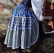 Одежда ручной работы. Ярмарка Мастеров - ручная работа Юбка ярусная в стиле бохо. Handmade.