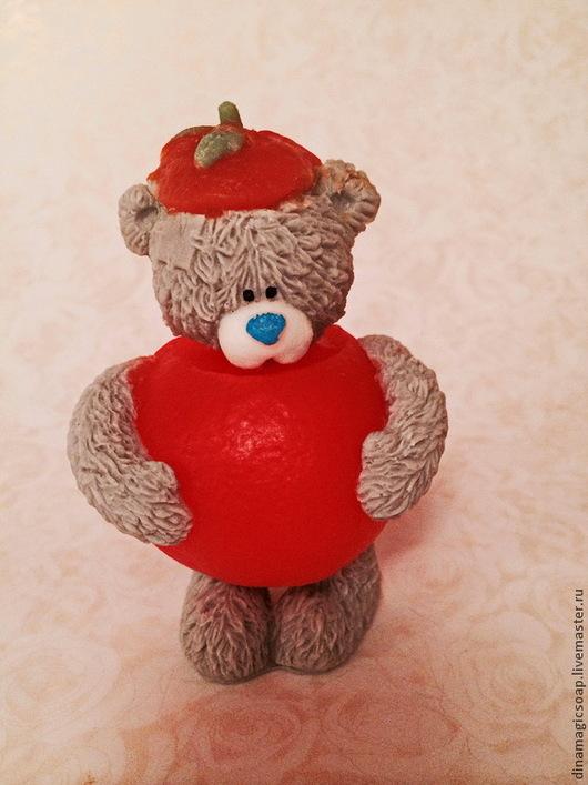 """Мыло ручной работы. Ярмарка Мастеров - ручная работа. Купить сувенирное мыло 3 d """"  Мишка  в костюме мандаринки"""". Handmade."""