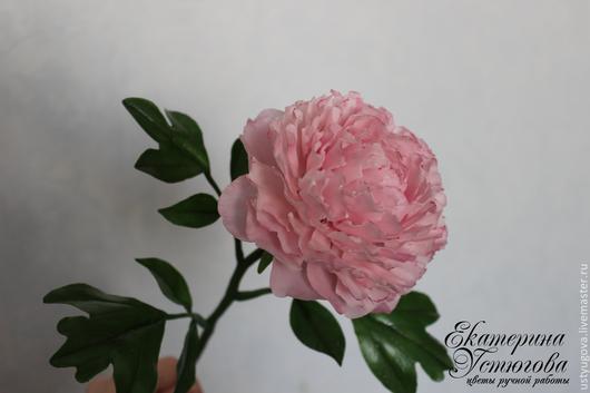 Цветы ручной работы. Ярмарка Мастеров - ручная работа. Купить Пион из полимерной глины (холодного фарфора). Цветы ручной работы. Handmade.