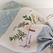 Банки ручной работы. Ярмарка Мастеров - ручная работа Мешочек для хранения трав ручная вышивка крестом. Handmade.