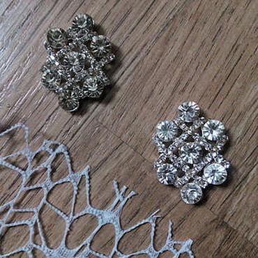Materials for creativity handmade. Livemaster - original item !Scrapbooking. Decor,brooch with crystals, Brooch with IMPERIAL crystal. Handmade.