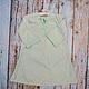 Одежда для девочек, ручной работы. Ярмарка Мастеров - ручная работа. Купить Ночная рубашка бежево мятная для девочки винтаж хлопок 5 6 л. Handmade.
