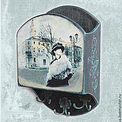 """Для дома и интерьера handmade. Livemaster - original item Ключница """"Девушка со старой фотографии"""". Handmade."""