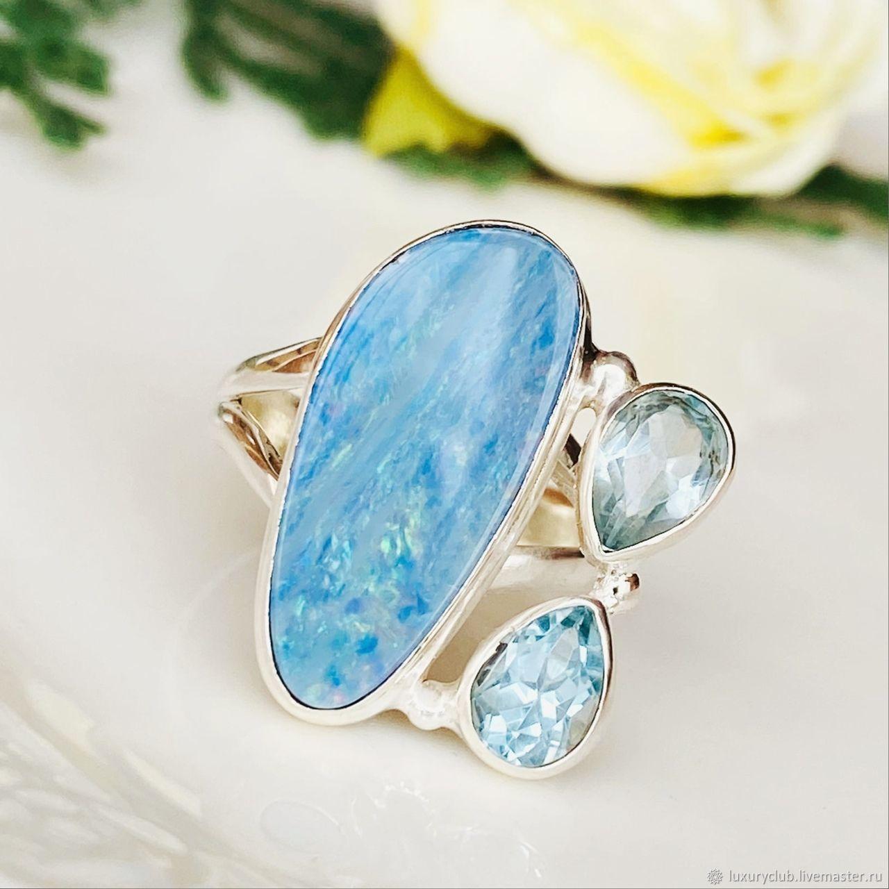 Australian opal ring 8.80 ct buy, Engagement rings, Tolyatti,  Фото №1