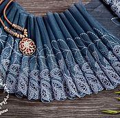 Материалы для творчества ручной работы. Ярмарка Мастеров - ручная работа Кружево 448 вышивка на сетке, кружево с вышивкой. Handmade.