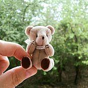 Куклы и игрушки ручной работы. Ярмарка Мастеров - ручная работа Мини-мишка тедди 4,5 см. Handmade.