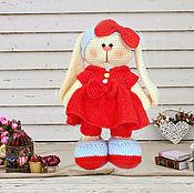 Куклы и игрушки ручной работы. Ярмарка Мастеров - ручная работа Зайчик с бантиком. Handmade.