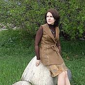 """Одежда ручной работы. Ярмарка Мастеров - ручная работа Валяный жилет """"Лесной орех"""". Handmade."""