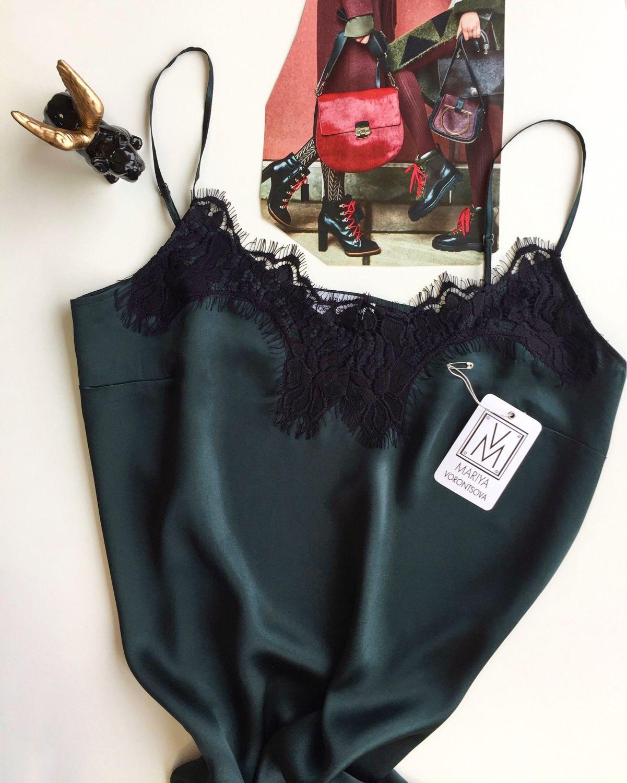 b7106a008100 Платья ручной работы. Ярмарка Мастеров - ручная работа. Купить Платье  комбинация из натурального шёлка ...