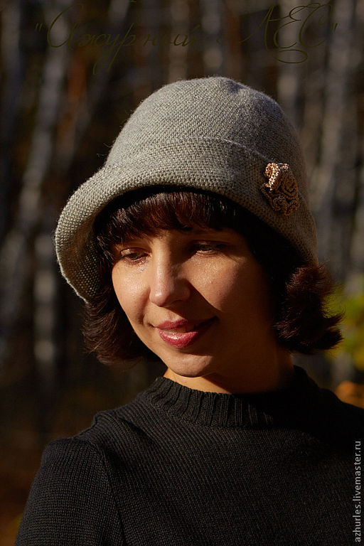 Шляпы ручной работы. Ярмарка Мастеров - ручная работа. Купить Серая шляпка (шапка) с маленькой розой. Handmade. Серый, шапочка