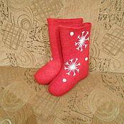 Обувь ручной работы. Ярмарка Мастеров - ручная работа Валенки красная снежинка. Handmade.