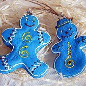 Подарки к праздникам ручной работы. Ярмарка Мастеров - ручная работа Небесные радости (набор елочных игрушек). Handmade.