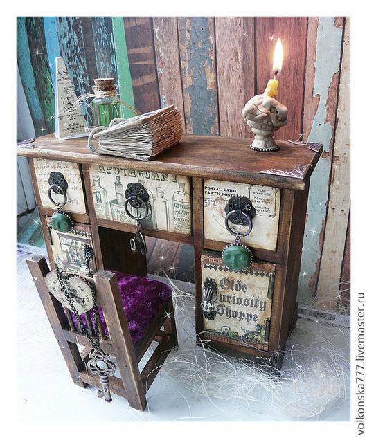 """Мини-комоды ручной работы. Ярмарка Мастеров - ручная работа. Купить """"Секретер Алхимика"""" мини-комод. Handmade. Мини-комод"""
