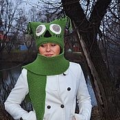 Аксессуары handmade. Livemaster - original item Set hat and scarf