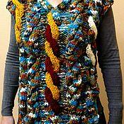"Одежда ручной работы. Ярмарка Мастеров - ручная работа Безрукавка ""Пестрая лента"". Handmade."