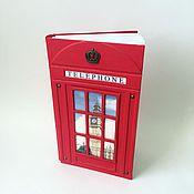 Канцелярские товары handmade. Livemaster - original item Red British Telephone Booth journal, London style notebook, exclusive. Handmade.