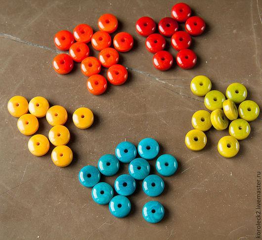 Для украшений ручной работы. Ярмарка Мастеров - ручная работа. Купить Бусины-рондели из ореха тагуа. Handmade. Бусины