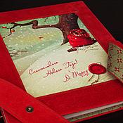 Канцелярские товары ручной работы. Ярмарка Мастеров - ручная работа Новогодний фотоальбом из замши. Handmade.
