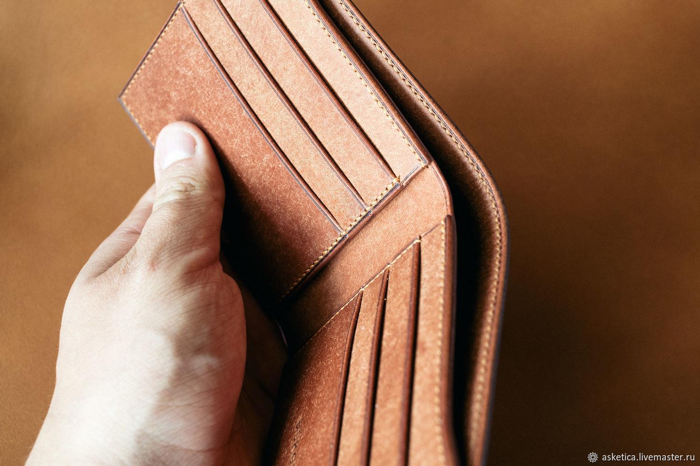 Wallets & Business Card Holders handmade. Livemaster - handmade. Buy Men's wallet handmade of genuine leather.Brown