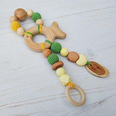 Товары для малышей ручной работы. Ярмарка Мастеров - ручная работа Грызунок из можжевельника и пищевого силикона. Handmade.