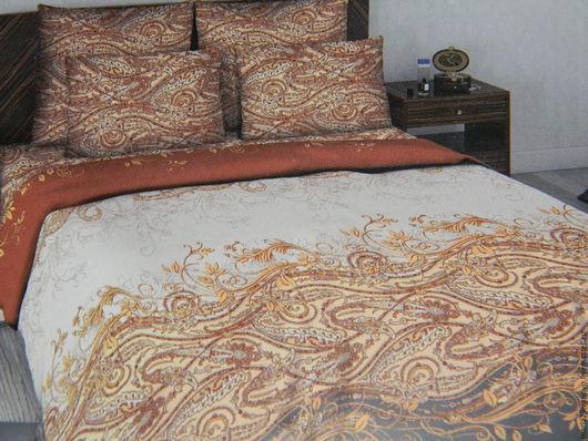 """Текстиль, ковры ручной работы. Ярмарка Мастеров - ручная работа. Купить Комплект 2-спального постельного белья из сатина """"Дубрава"""". Handmade."""