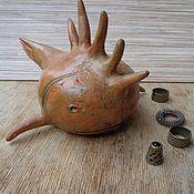 Для дома и интерьера ручной работы. Ярмарка Мастеров - ручная работа Керамическая статуэтка ручной работы.Лощение,ганозис.Рыба-шар. Handmade.