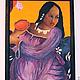 Люди, ручной работы. Картина маслом на холсте, по мотивам картины Гогена Таитянка с манго. Радостные картины. Живопись от Яны (picturae). Интернет-магазин Ярмарка Мастеров.