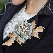 Украшения handmade. Livemaster - original item brooch leather rose. the decoration of leather.. Handmade.