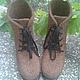 Обувь ручной работы. Ботинки мужские валяные. Шерстинка (okravchuk). Интернет-магазин Ярмарка Мастеров. Валенки, валенки на подошве