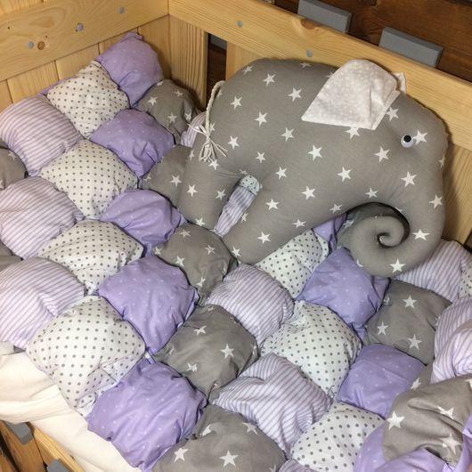 Детская ручной работы. Ярмарка Мастеров - ручная работа. Купить Бомбон одеялко. Handmade. Бортики в кроватку, бортики подушки