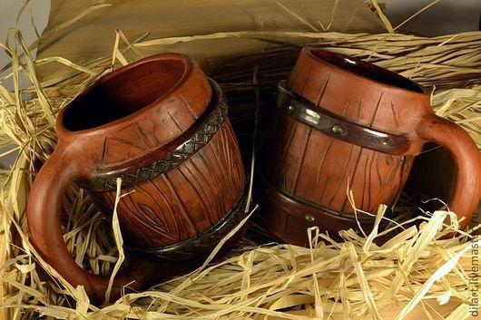 """Подарки для мужчин, ручной работы. Ярмарка Мастеров - ручная работа. Купить Большая Пивная Кружка """"Деревенская Бочка"""" на заказ подарок мужчине. Handmade."""