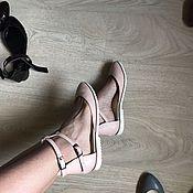 Обувь ручной работы. Ярмарка Мастеров - ручная работа Балетки Casual туфли пудровая кожа. Handmade.