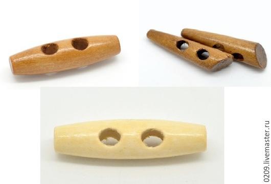 Шитье ручной работы. Ярмарка Мастеров - ручная работа. Купить пуговицы деревянные длинные. Handmade. Бежевый, пуговицы декоративные