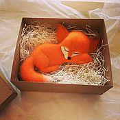 Куклы и игрушки ручной работы. Ярмарка Мастеров - ручная работа Лисичка (валяная игрушка). Handmade.