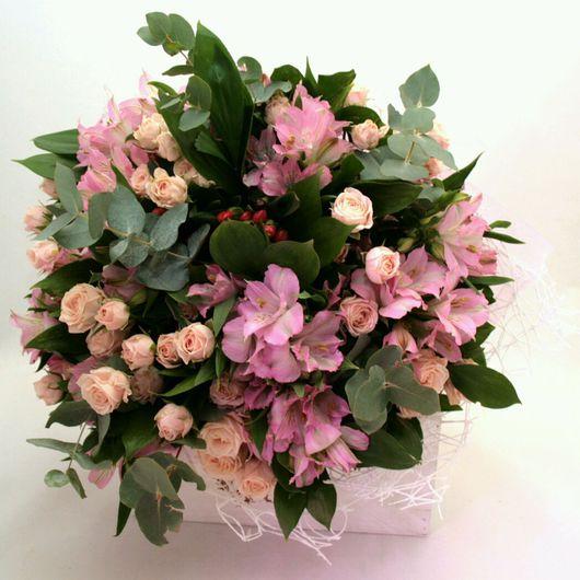 """Букеты ручной работы. Ярмарка Мастеров - ручная работа. Купить Букет из живых цветов """"Розовые облака"""". Handmade. Розовый, букет"""