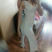 Одежда ручной работы. Ярмарка Мастеров - ручная работа Ажурное вязанное платье. Handmade.