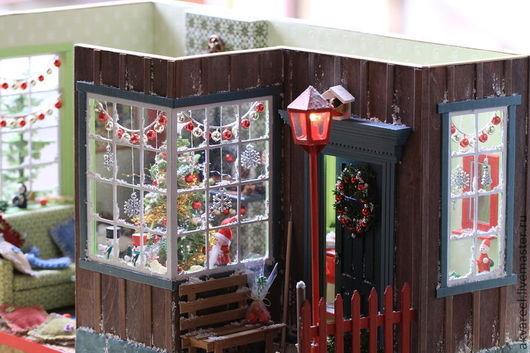 """Кукольный дом ручной работы. Ярмарка Мастеров - ручная работа. Купить Румбокс """"Рождественский"""".. Handmade. Румбокс, сказочный домик, рождество"""