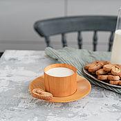 Посуда handmade. Livemaster - original item Coffee steam from the Siberian Cedar (Cup saucer) NC21. Handmade.