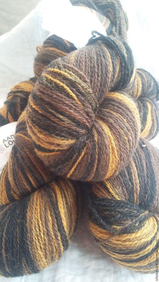 Вязание ручной работы. Ярмарка Мастеров - ручная работа. Купить Кауни Brown-Black 8/2. Handmade. Комбинированный, черный, секционный