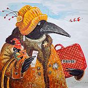 """Картины и панно ручной работы. Ярмарка Мастеров - ручная работа """"Parizhanka""""-картина на шелке. Handmade."""