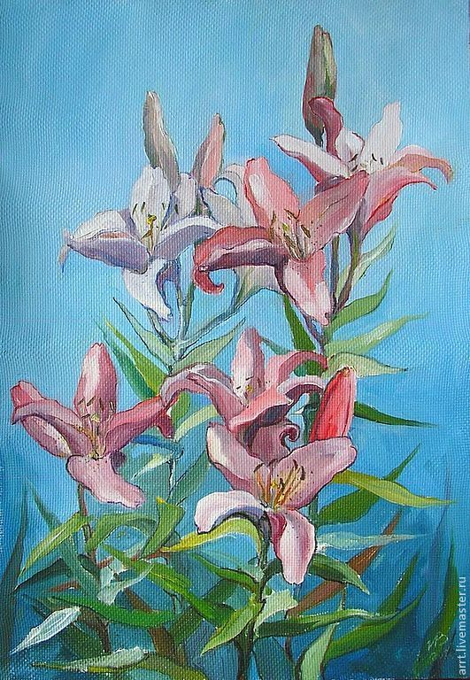 Painting Flowers oil on Canvas 35 by 50 cm, Pictures, St. Petersburg,  Фото №1