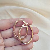 Винтаж handmade. Livemaster - original item Congo Ring Earrings 925 Sterling Silver Gold Plated Marked Italy. Handmade.