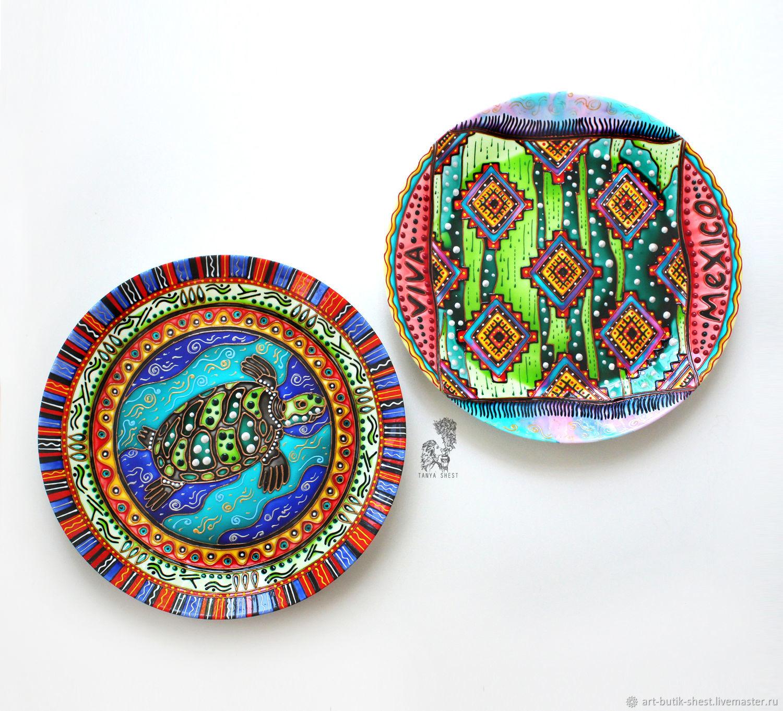 'Mexican breeze ' Set of 2 large plates D 32 cm, Decorative plates, Krasnodar,  Фото №1