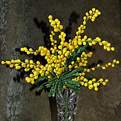 """Цветы и флористика ручной работы. Ярмарка Мастеров - ручная работа """"Головокружение"""" - букет мимозы. Handmade."""