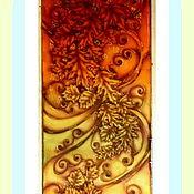 """Аксессуары ручной работы. Ярмарка Мастеров - ручная работа Шарф-батик """"Индейское лето"""". Handmade."""