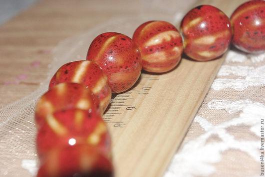 Для украшений ручной работы. Ярмарка Мастеров - ручная работа. Купить Бусина Красная фарфоровая 18мм (1шт). Handmade. Бусина
