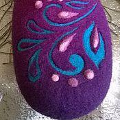 Обувь ручной работы. Ярмарка Мастеров - ручная работа Валяные женские домашние тапочки. Handmade.
