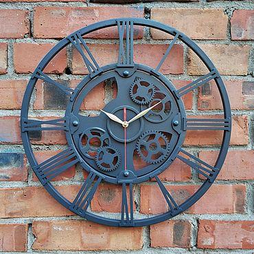 Для дома и интерьера ручной работы. Ярмарка Мастеров - ручная работа Кованые часы в стиле Лофт. Handmade.