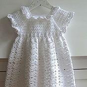 """Работы для детей, ручной работы. Ярмарка Мастеров - ручная работа Летнее платье """"Белоснежный Ангел"""". Handmade."""