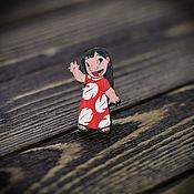 Украшения handmade. Livemaster - original item Wooden icon Lilo. Handmade.